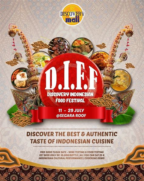 discovery indonesian food festival jadwal event info