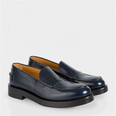 paul smith loafers paul smith s navy calf leather shipton loafers in
