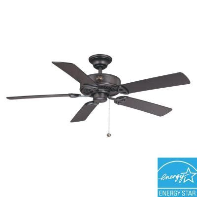 hton bay farmington ceiling fan hton bay farmington 52 in iron ceiling fan