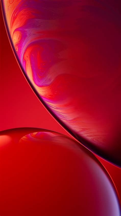 original apple iphone xr wallpaper  red