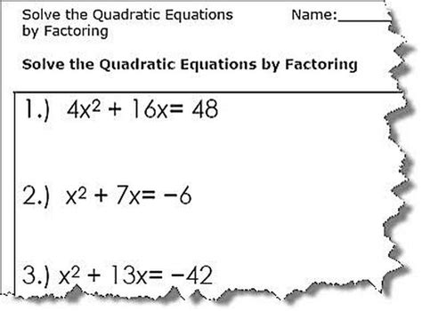 simple quadratic equations worksheet pdf tessshebaylo