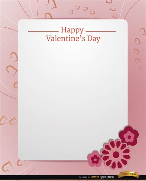 valentines day templates pink s day letter template vector free