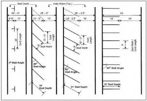 parking garage design standards roosevelt islander straight or angled parking stripes for