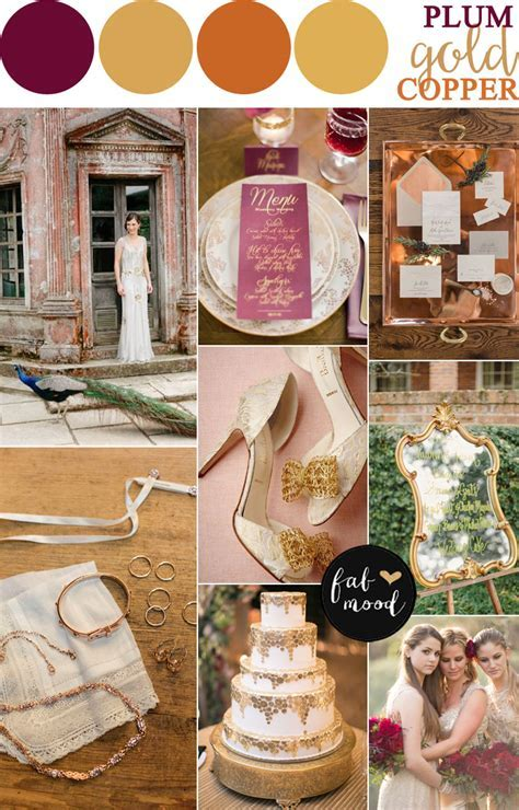 Copper   Plum   Antique Gold Autumn Wedding { Vintage