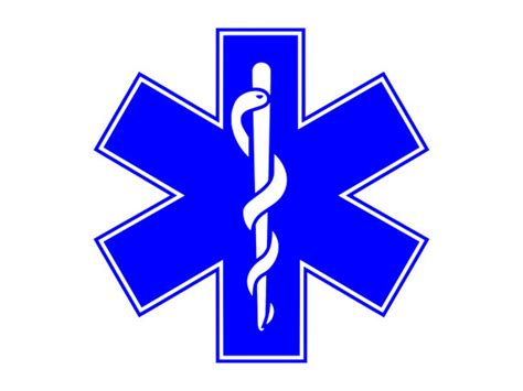 Star Wall Sticker rod of asclepius medical logo paramedics symbol outdoor