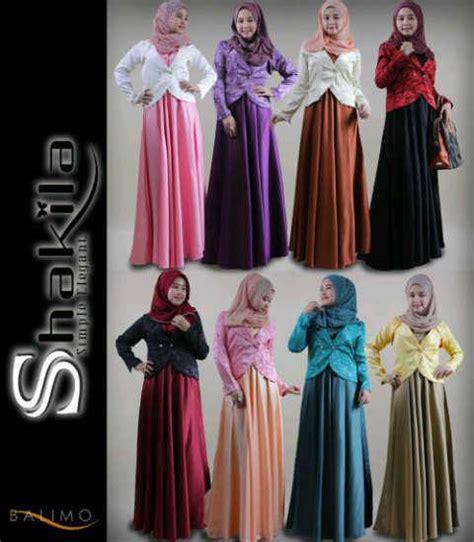 Baju Muslim Gamis Tanah Abang pakaian islami abiti moslem style busana muslim tanah abang balimo shakila