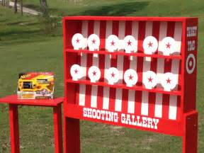 nerf shooting gallery carnival game for birthday church vbs