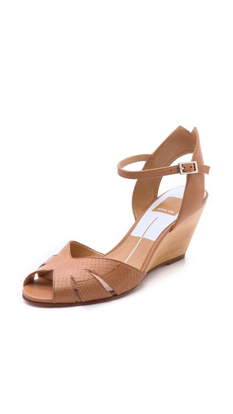sandals dolce vita dolce vita kimbra wedge sandals in brown lyst