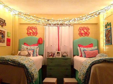 cute dorm room ideas ole miss dorm room dorm pinterest cute dorm rooms bed covers and hanging lights