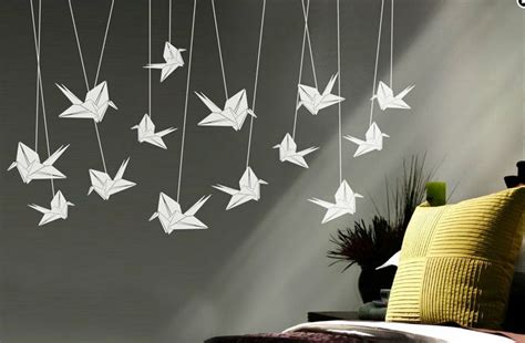 Flying Origami Bird - children wall decal wall sticker nursery flying
