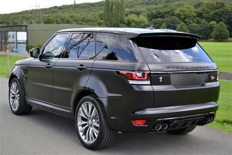 range rover svr black stealthy satin black range rover sport svr reforma uk