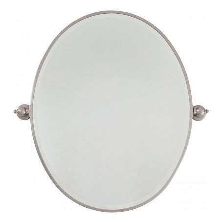 Minka Lavery Brushed Nickel Standard Oval Pivoting Pivoting Bathroom Mirror