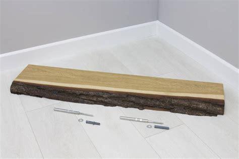 1 Set Floating Shelves 100 90 80 70cm 4buah 40cm Le Berkualitas bark edge solid oak floating wall shelf by bespoak