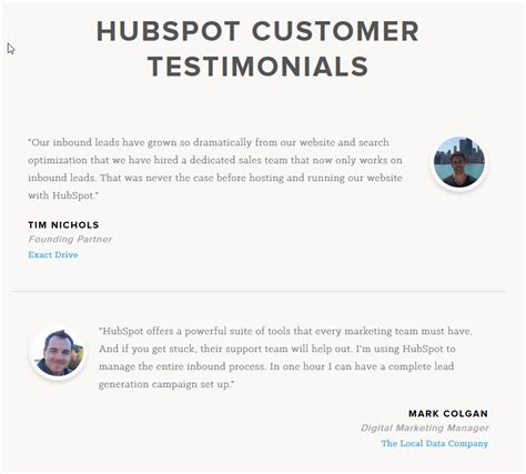 11 Exles Of Great Customer Testimonial Pages Wordstream Email Template Asking For Testimonials