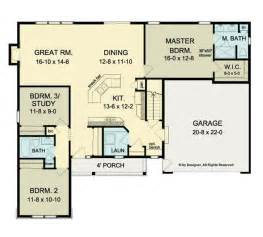 Ranch Home Floor Plan by Ranch Home Plans With Open Floor Plans