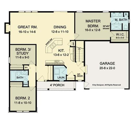 Ranch House Plans With Open Floor Plan | 301 moved permanently