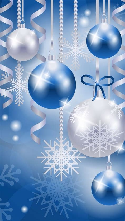 blue christmas ornaments  snow flakes  images christmas wallpaper