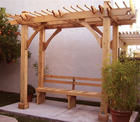 pergola with bench unique garden arbor with bench metal wood or pvc arbor bench