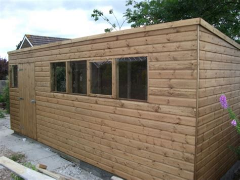 workshops pent or apex roof style from sheds direct