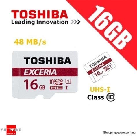 Memory Card Mmc Micro Sd Toshiba 16gb 16 Gb Murah Bagus toshiba exceria 16gb microsd class 10 uhs i 48mb s micro sd tf memory card shopping