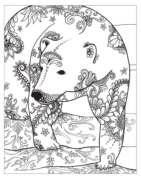 zendoodle coloring winter animal coloring