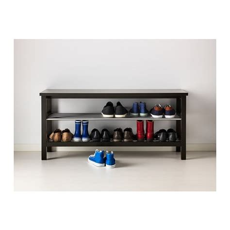 shoe bench ikea tjusig bench with shoe storage black 108x50 cm ikea
