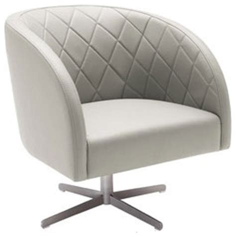 Top Grain Leather Swivel Chair Grey Contemporary Grey Leather Swivel Chair