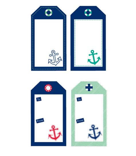 Printable Anchor Gift Tags | free sailor nautical tags chic mother baby blog daily
