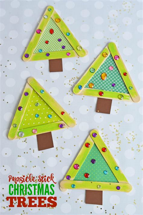 icestick crismax tree popsicle stick trees make and takes