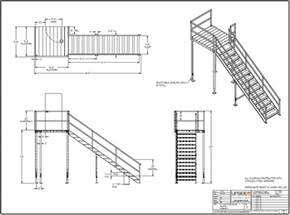 Platform Handrail Requirements Stair Towers Amp Multi Story Access Upside Innovations
