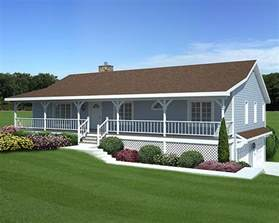 Ranch Style House Plans With Porch by House Plan Chp 29883 At Coolhouseplans Com