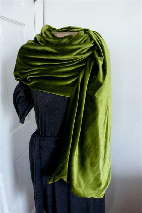Pashmina Velvetpashmina Satinkerudungjilbabmurah olive velvet shawl scarf