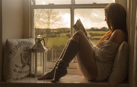 the window picture book relax book window reading hd wallpaper