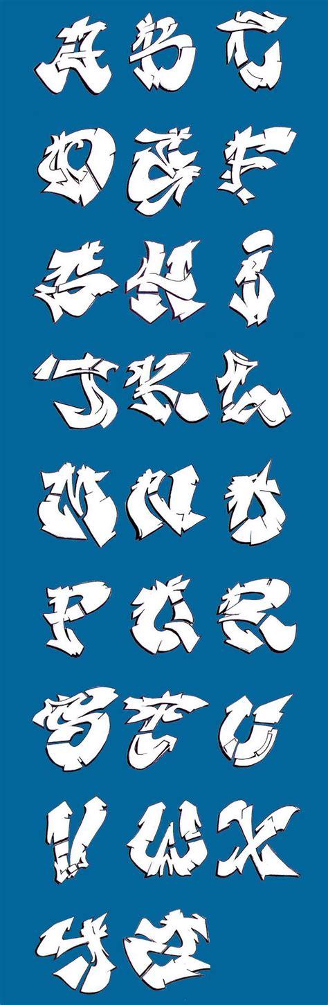 graffiti alphabet   classic cool graffiti wildstyle