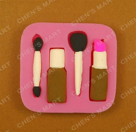 P1054 Make Up Tools And Lipstick Silicone Mold new arrival 5 pc silicone mold make up cosmetic