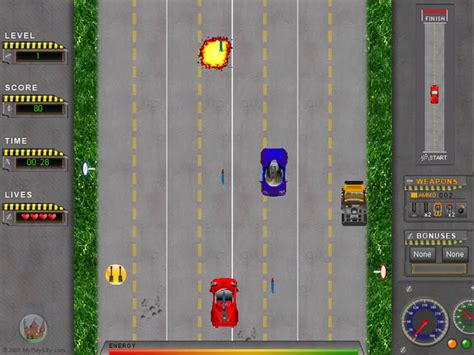 road attack race car game
