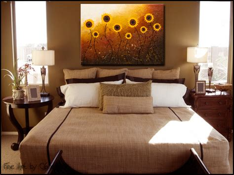 bedroom art paintings sunflower meadow abstract art large original abstract