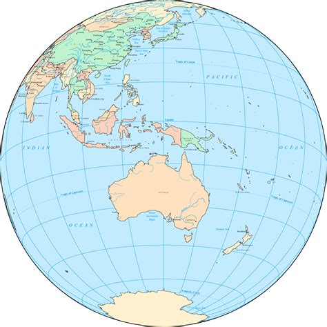 australia map location large detailed location map of australia and oceania