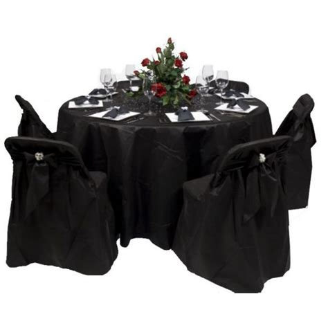 black disposable folding chair covers disposable table covers 84 table 24 pcs bulk