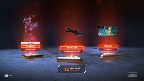 unlock  heirloom set  apex legends dot esports