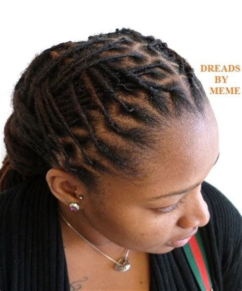 Meme Dreadlocks - loc styles women professional short hairstyle 2013