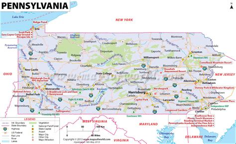 pennsylvania on map of usa pennsylvania map map of pennsylvania pa
