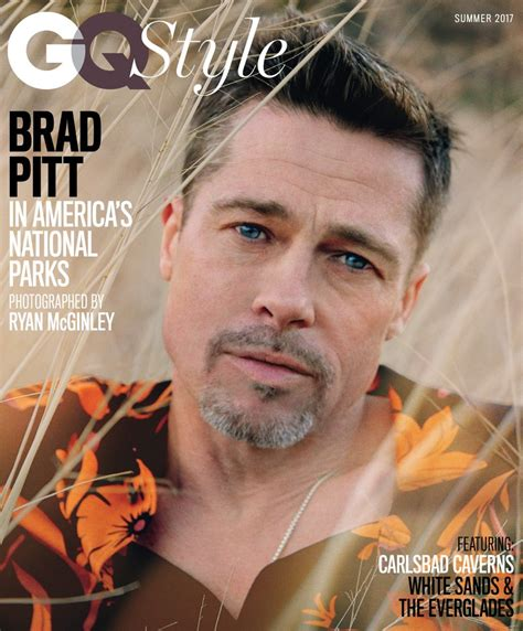 best brat brad pitt s fa 231 ade in gq cover profile while discussing