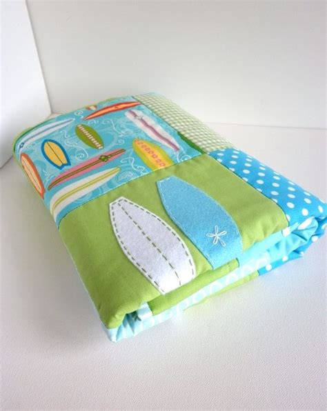 Surfboard Pillows by Surfboard Baby Boy Quilt And Matching Surfboard Pillow Cover In Blue And Green Ready To Ship