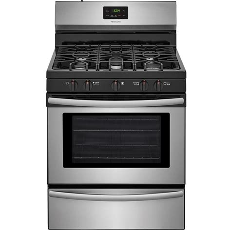 Oven Gas 2 Pintu shop frigidaire 5 burner freestanding 4 2 cu ft gas range easycare stainless steel common 30