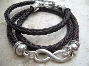 Mens Infinity Bracelet Infinity Bracelet Leather Bracelet Wrap Braided