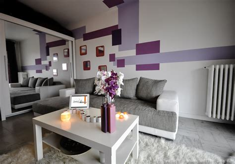 Attrayant Chambre De Bain Decoration #2: photo-decoration-deco-salon-gris-violet-1024x719.jpg