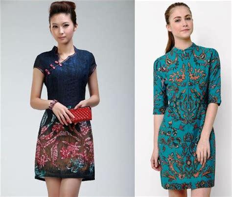 Baju Batik Bigsize Wanita 5 20 model dress batik terbaru