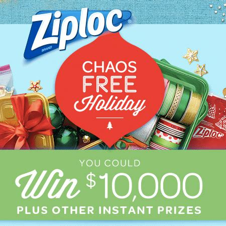 Free Holiday Giveaways - ziploc chaos free holiday giveaway and sweepstakes