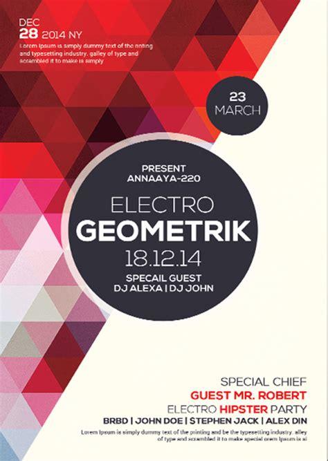 23  Geometric Flyer Templates ? Free PSD, EPS, AI